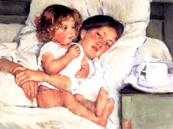 Cassatt: Breakfast in Bed,1897,oil,The Huntington Library, Art Collections, and Botanical Gardens, San Marino, California