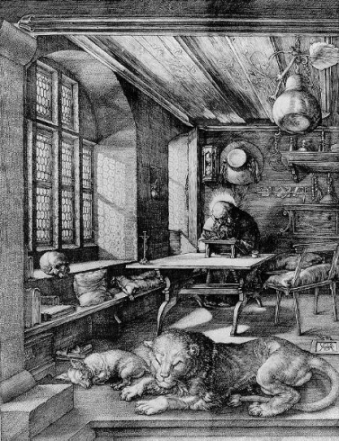 1514 copper engraving 10x8 in,  	Staatlich Junsthalle, Karlsruhe